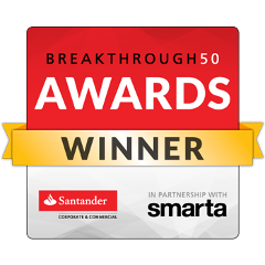 Breakthrough 50 Awards: Winner